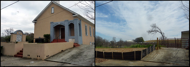 P1160878-2013-02-27--Temple-of-God-church-1353-Boyd-Ave-Blandtown-Atlanta-demolished-dyptic-before-after church