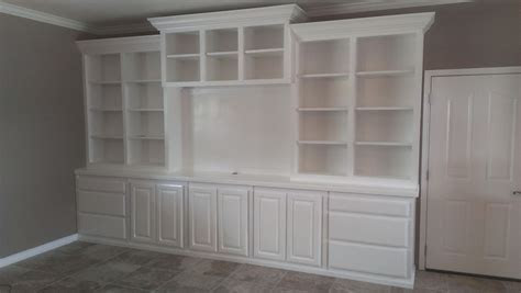 Hand Crafted Large White Wall Unit by Top Quality Cabinets   CustomMade.com