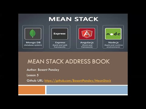 mean stack address book
