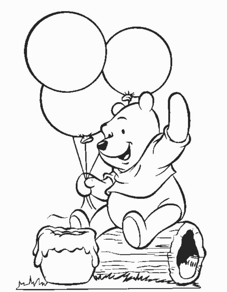 Winnie The Pooh Pages Coloring Home
