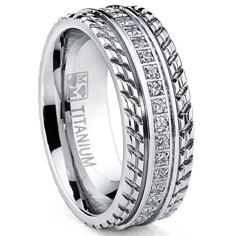 MENS OR WOMENS eternity T TITANIUM LCS. DIAMOND WEDDING