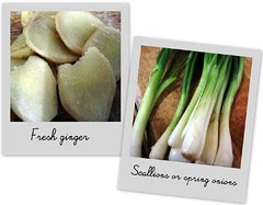 ginger and scallions