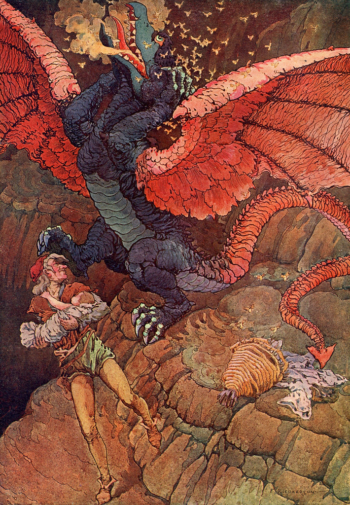 "Frederick Richardson -  Illustration From ""The Queen's Museum and Other Fanciful Tales"" by Frank R. Stockton, 1906 (2)"