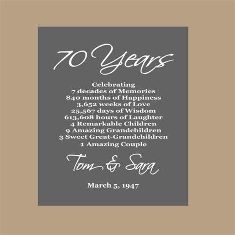 70th Anniversary Print   Platinum Anniversary   70