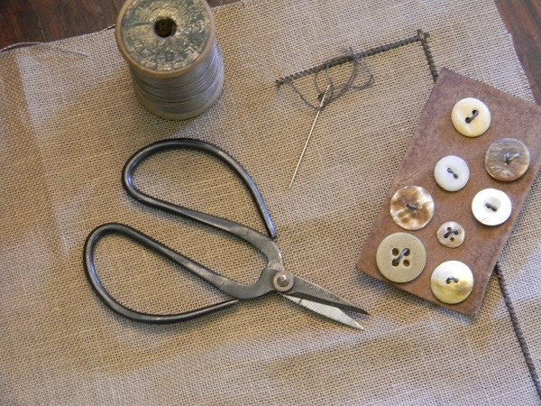 Primitive Sewing Scissors - from Notforgotten Farm