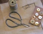 Primitive Sewing Scissors - from Notforgotten Farm