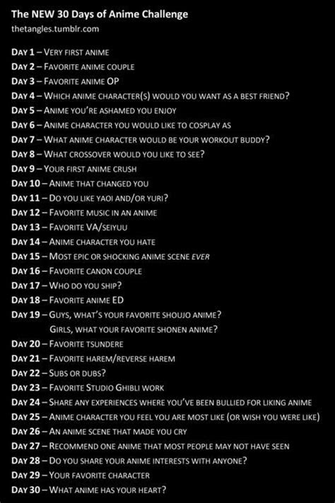 day anime challenge text anime anime otaku