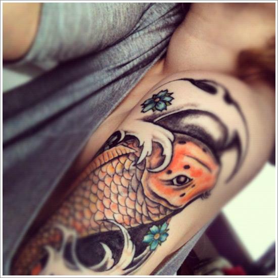 40 Diseños De Tatuajes De Peces Koi
