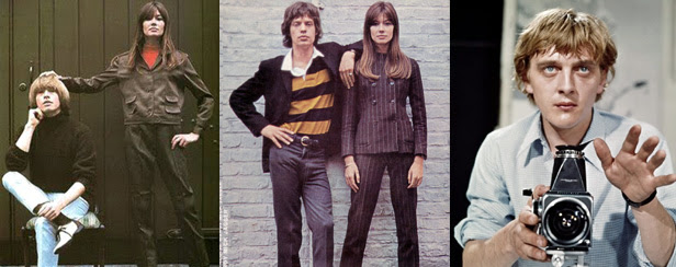 Françoise Hardy - Brian Jones - Mick Jagger - David Hemmings