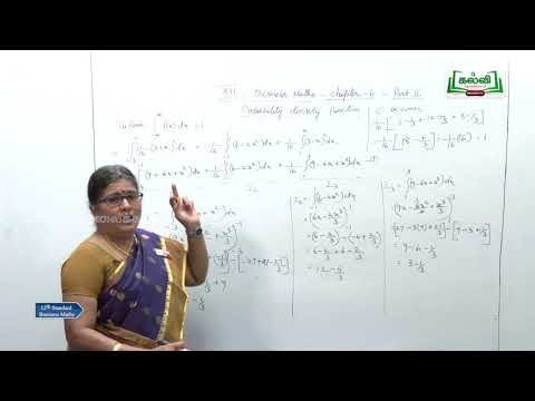 12th Business Maths Random Variable and Mathematical Expectation Part 2 Kalvi TV