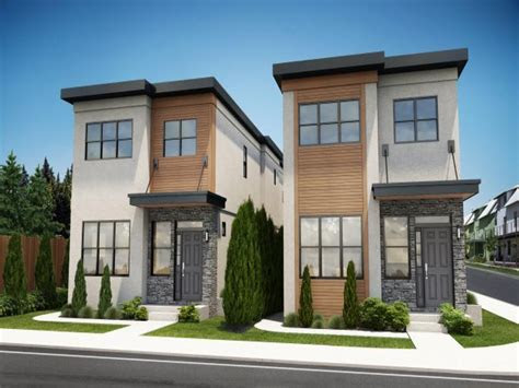 modern contemporary narrow lot house plans cool house