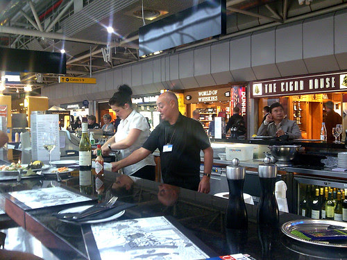 Seafood Bar and Prunier counter LHR