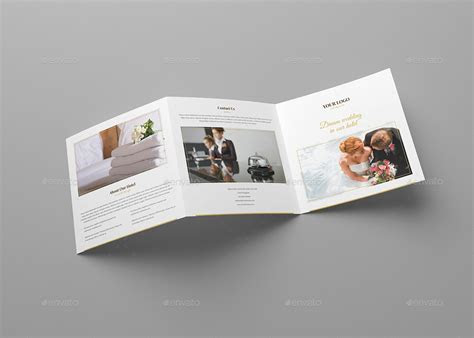 Brochure ? Hotel for Wedding Tri Fold Square by artbart