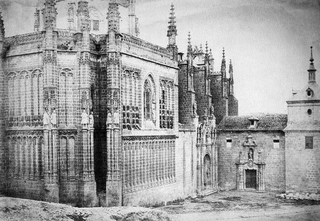 Monasterio de San Juan de los Reyes (Toledo) en 1852. Calotipo de Edward King Tenison publicado en el libro Recuerdos de España. Bibliothèque Nationale de France (Paris)