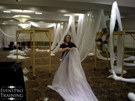 How to drape a room using a cloth you can get at your