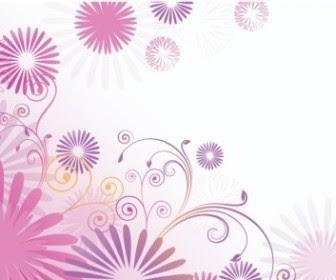 Corner Flower Vector Free Download