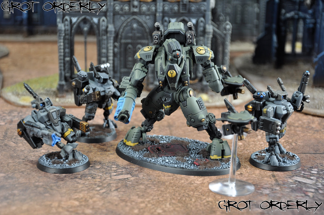 grot, orderly, warhammer, 40k, tau, painted