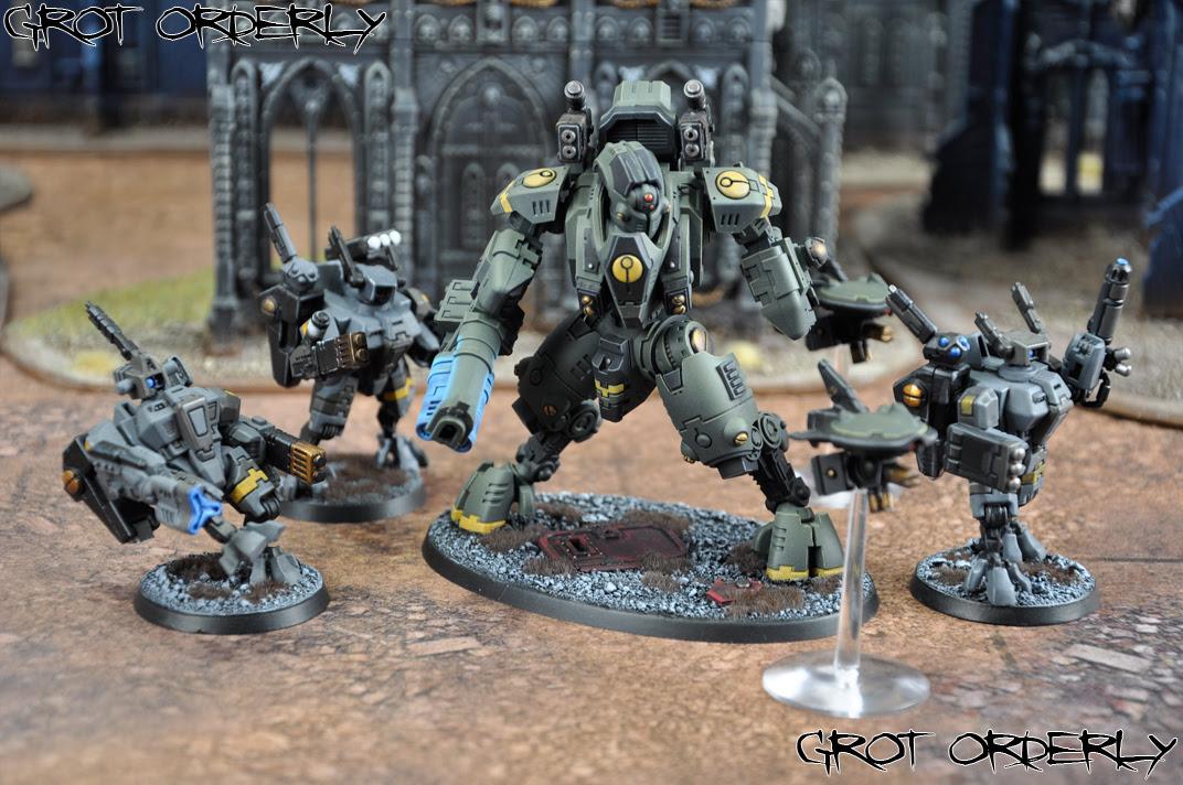 grot, orderly, warhammer, 40k, tau, painted