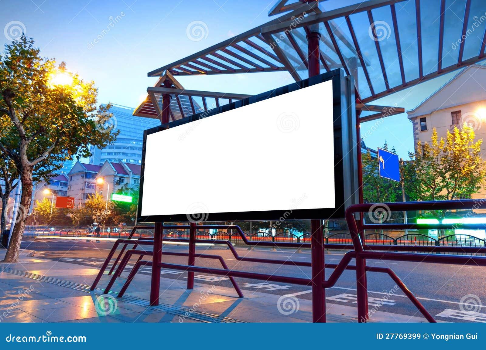 Blank Billboard At Night Royalty Free Stock Images - Image: 27769399