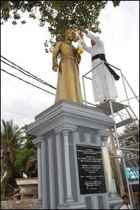 Thaninayagam centenary statue in Jaffna
