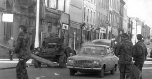 British Army tank on Margaret Square