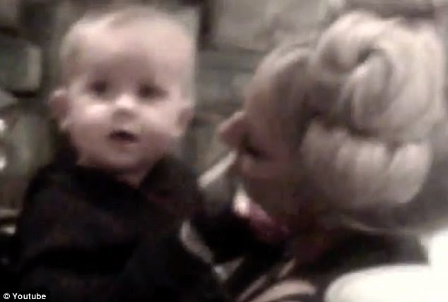 How cute: Another clip sees Gaga cuddling up to her young cousin Zachary