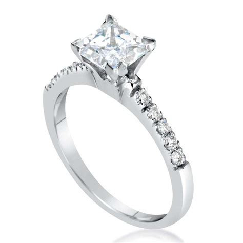 2 Carat Princess Cut Diamond Engagement Ring   Ara Diamonds