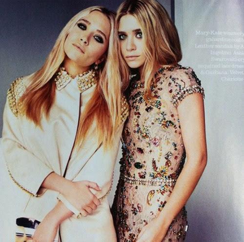 Mary-Kate & Ashley in Elle UK, April 2012