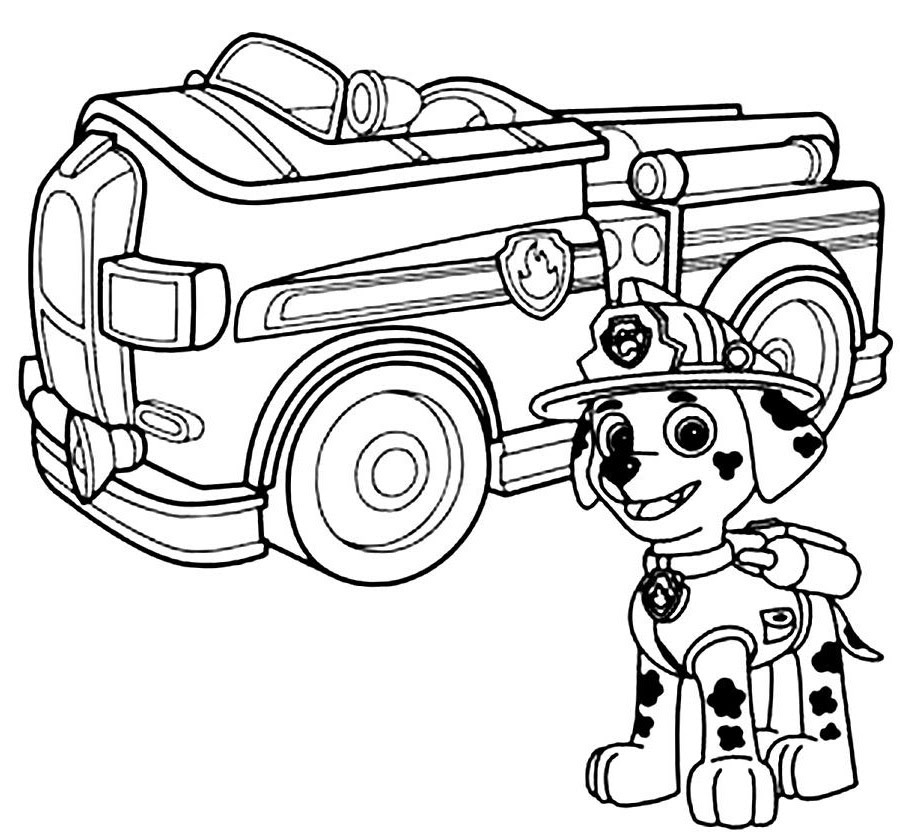 Free Coloring Pages Of Paw Patrol Raul Printable