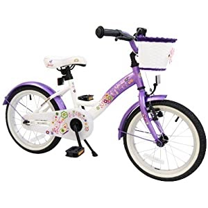 puky kinderfahrrad bike star 16 zoll kinder fahrrad farbe lila wei top angebote f r. Black Bedroom Furniture Sets. Home Design Ideas