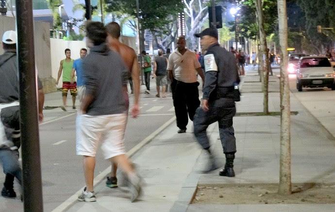 polícia Maracanã confusão Vasco x Fluminense (Foto: Hector Werlang)