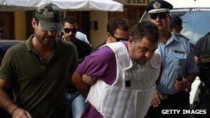 George Roupakias arrested, 21 Sept