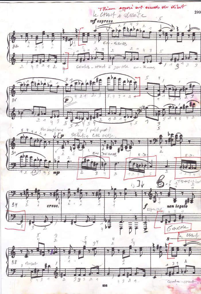 Page 5  - exposition du second thème opposé et très chanté de la mesure 79 à la mesure 104.