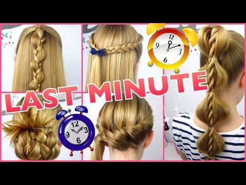 5 X 3 Minuten Frisuren Last Minute Coole Frisuren Auf Die