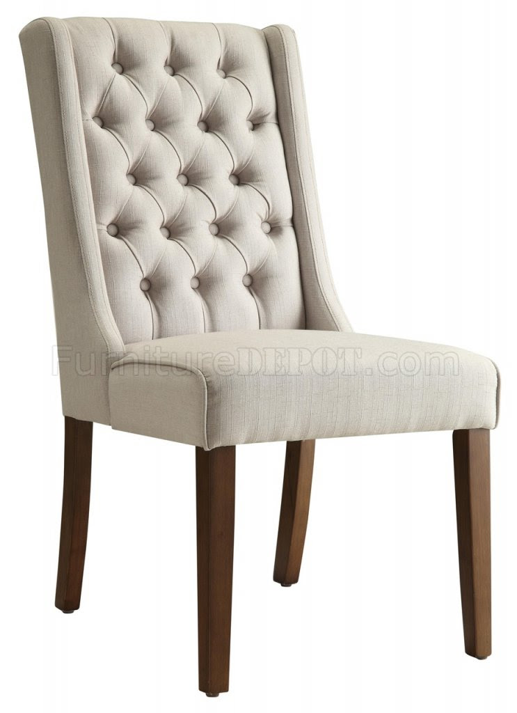 902502 Accent Chair Set of 2 in Beige Fabric by Coaster