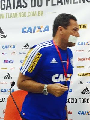 Luxemburgo, coletiva Flamengo (Foto: Cahê Mota)