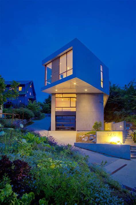 modern geometric architecture urban seattle home