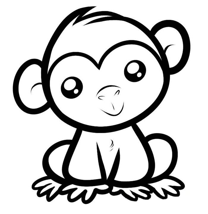 Easy Coloring Pages For Toddlers Www Robertdee Org