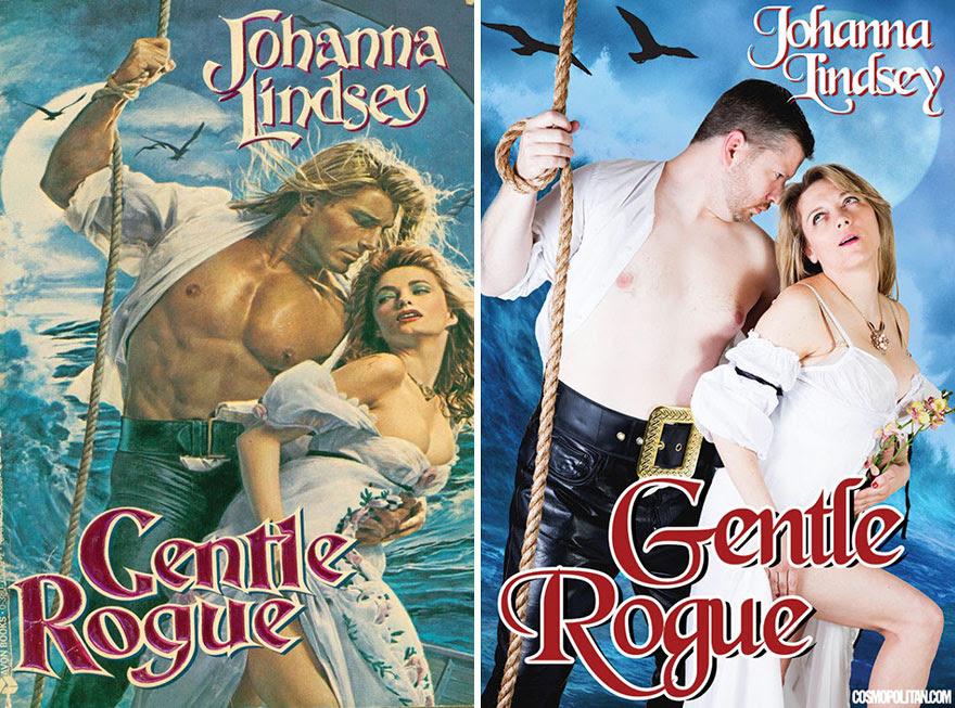 7 - Couple recreates romance novel cover of Gentle Rogue by Johanna Lidsey