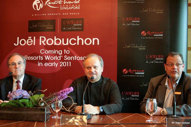 Pierre-Yves Rochon, Joël Robuchon and Roger Lienhard