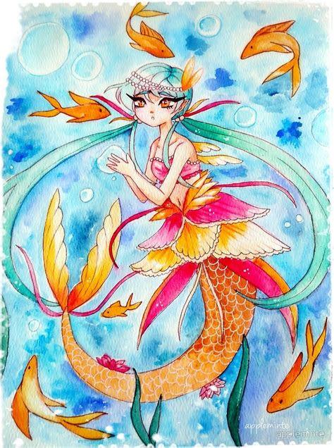 mermaid fishies  appleminte redbubble
