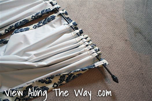 DIY back-tab curtain drapery panels
