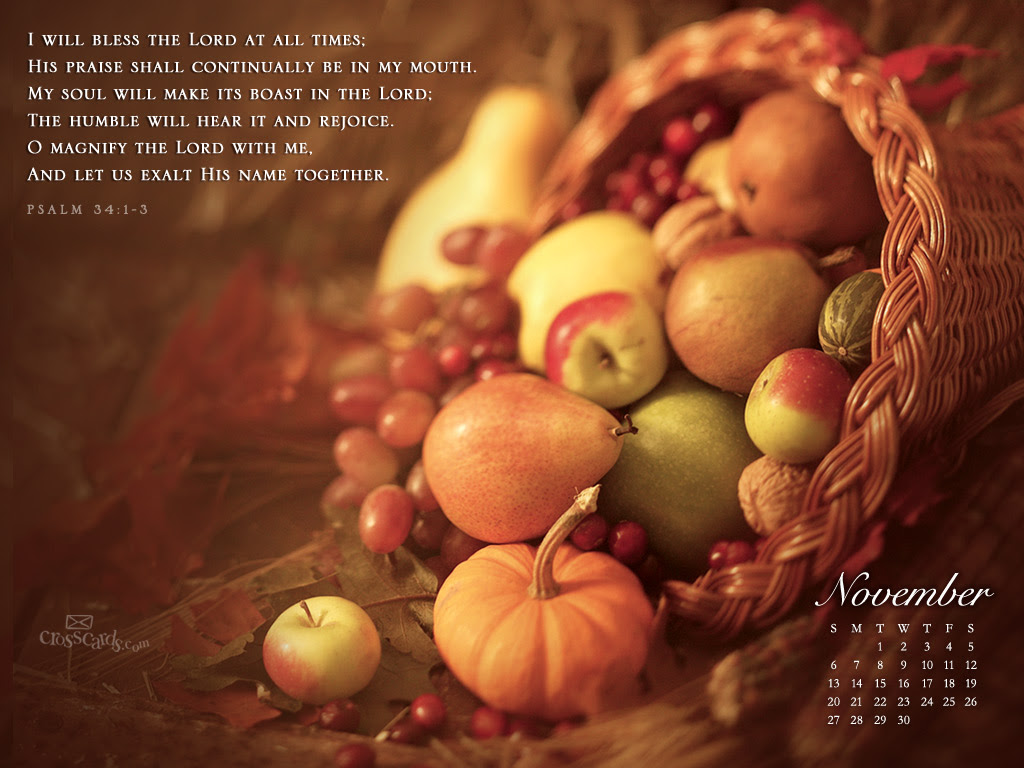 November 2011 - Bless the Lord