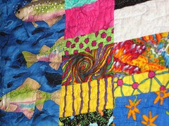 Funky Fish quilt back