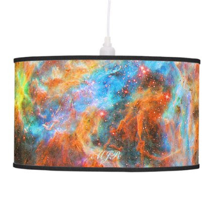 Monogram Tarantula Nebula deep space picture Lamps