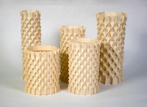 tessellated concrete vases