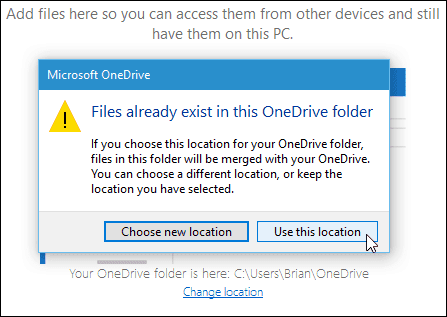 How to Change the Default OneDrive Folder in Windows 10