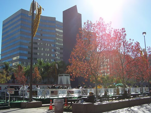 winter day in pershing square
