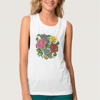 hungarian flowers t-shirts