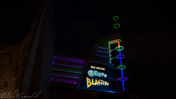 Disneyland Resort, Disneyland, Tomorrowland, Buzz, Lightyear, Astro, Blasters, Facade